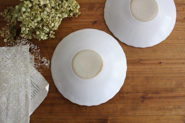美濃焼 モチーフ 6寸輪花鉢 白 陶器 画像3