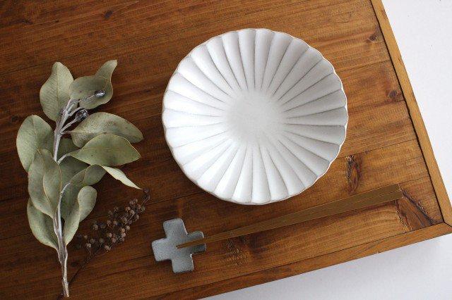 美濃焼 モチーフ 6寸輪花鉢 白 陶器 画像4