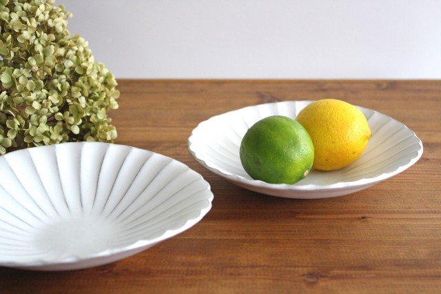 美濃焼 モチーフ 6寸輪花鉢 白 陶器 画像5