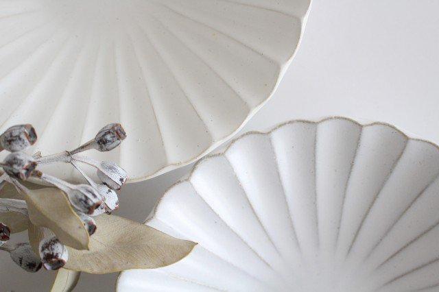 美濃焼 モチーフ 6寸輪花鉢 白 陶器 画像6