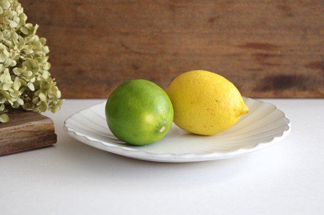 美濃焼 モチーフ マーガレット 6寸皿 陶器 画像2