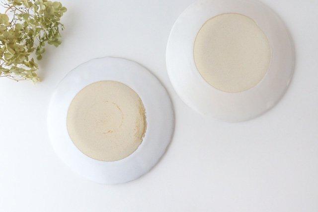 6寸輪花皿 白 陶器 モチーフ 美濃焼  画像3