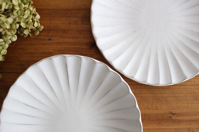 6寸輪花皿 白 陶器 モチーフ 美濃焼  画像5