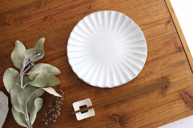 6寸輪花皿 白 陶器 モチーフ 美濃焼  画像6