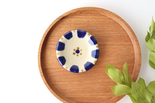 小皿 コバルトチチチャン 陶器 ノモ陶器製作所 やちむん