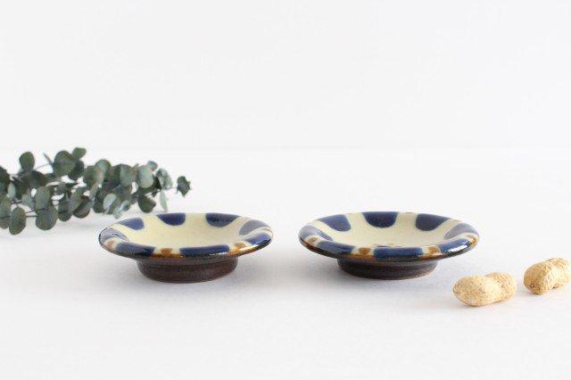 小皿 チチチャンコバルト 陶器 ノモ陶器製作所 やちむん 画像2