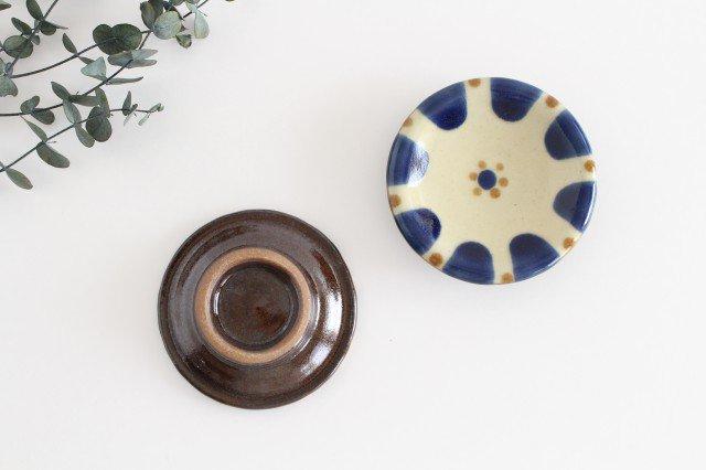 小皿 コバルトチチチャン 陶器 ノモ陶器製作所 やちむん 画像3