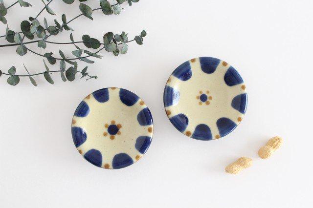 小皿 コバルトチチチャン 陶器 ノモ陶器製作所 やちむん 画像5