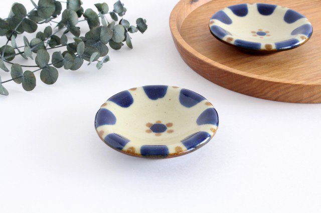小皿 コバルトチチチャン 陶器 ノモ陶器製作所 やちむん 画像6