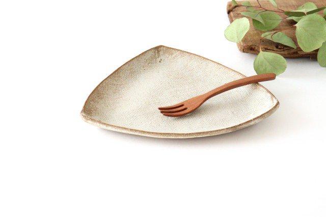 三角皿 白 陶器 宮崎和佳子