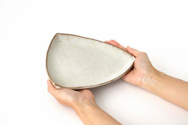 三角皿 白 陶器 宮崎和佳子 画像2