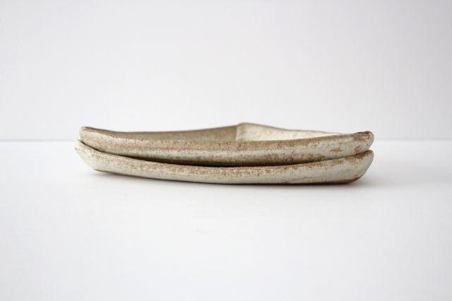 三角皿 白 陶器 宮崎和佳子 画像4