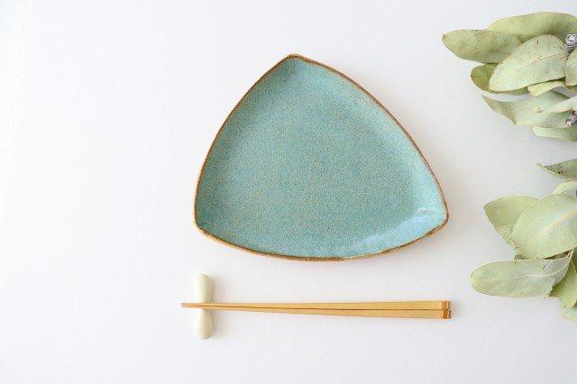 三角皿 青 陶器 宮崎和佳子 画像3
