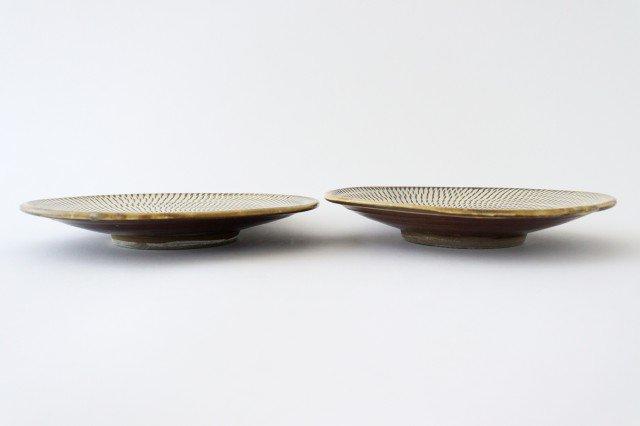 7寸皿 トビカンナ 陶器 小鹿田焼  画像2