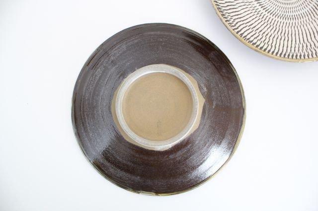 7寸皿 トビカンナ 陶器 小鹿田焼  画像3