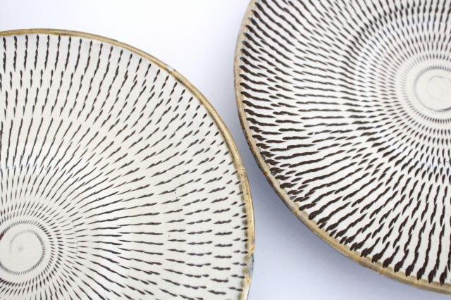 7寸皿 トビカンナ 陶器 小鹿田焼  画像4