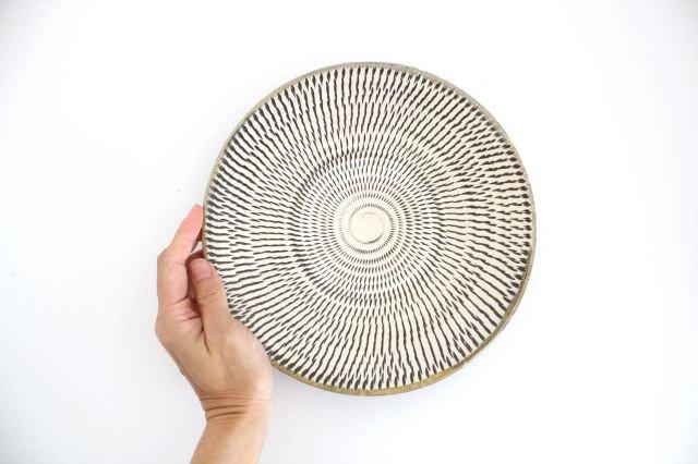 7寸皿 トビカンナ 陶器 小鹿田焼  画像6