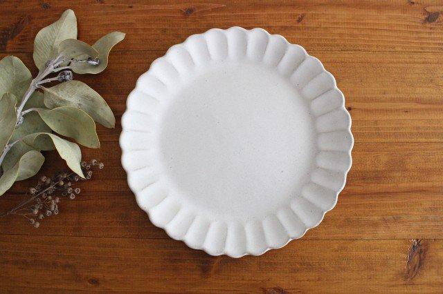 美濃焼 モチーフ サンフラワー 7寸皿 陶器