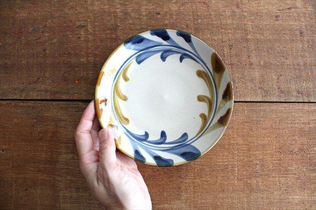 5寸皿 デイゴ唐草 陶器 壷屋焼 陶眞窯 やちむん 画像3