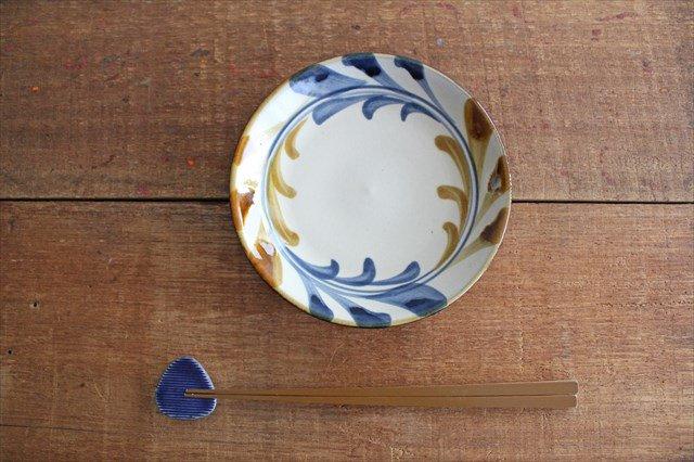 5寸皿 デイゴ唐草 陶器 壷屋焼 陶眞窯 やちむん 画像5