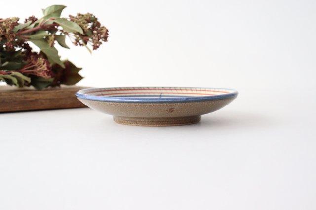 5寸皿 赤絵ブーゲンビリア 陶器 壷屋焼 陶眞窯 やちむん 画像4