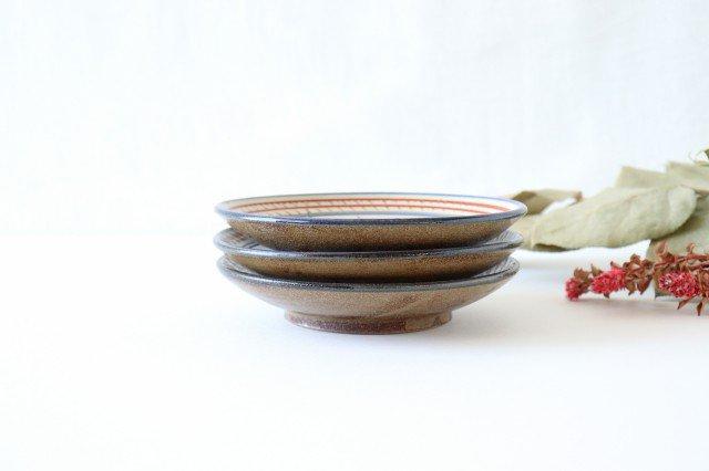 5寸皿 赤絵ブーゲンビリア 陶器 壷屋焼 陶眞窯 やちむん 画像6
