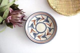 5寸皿 赤絵ブーゲンビリア 陶器 壷屋焼 陶眞窯 やちむん商品画像