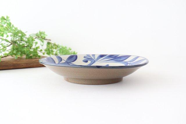 7寸皿 コバルト唐草 陶器 壷屋焼 陶眞窯 やちむん 画像3