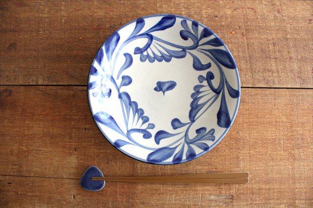 7寸皿 コバルト唐草 陶器 壷屋焼 陶眞窯 やちむん 画像5