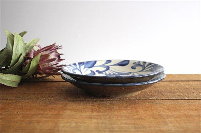 7寸皿 コバルト唐草 陶器 壷屋焼 陶眞窯 やちむん 画像6