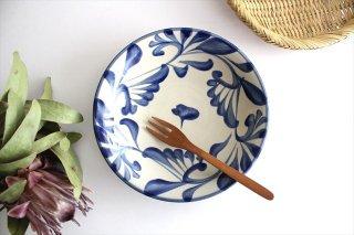 7寸皿 コバルト唐草 陶器 壷屋焼 陶眞窯 やちむん商品画像