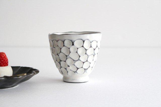 美濃焼 白玉粉引き 湯呑 陶器
