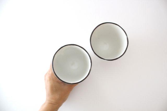 美濃焼 白玉粉引き 湯呑 陶器 画像3