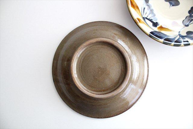 7寸皿 ゴス唐草 陶器 壷屋焼 陶眞窯 やちむん 画像3