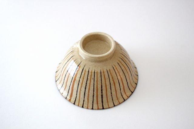 美濃焼 二色十草 反中平碗 橙 陶器 画像3