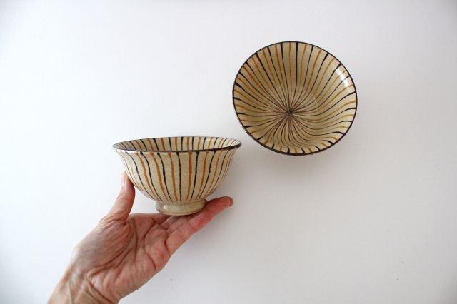 美濃焼 二色十草 反中平碗 橙 陶器 画像4
