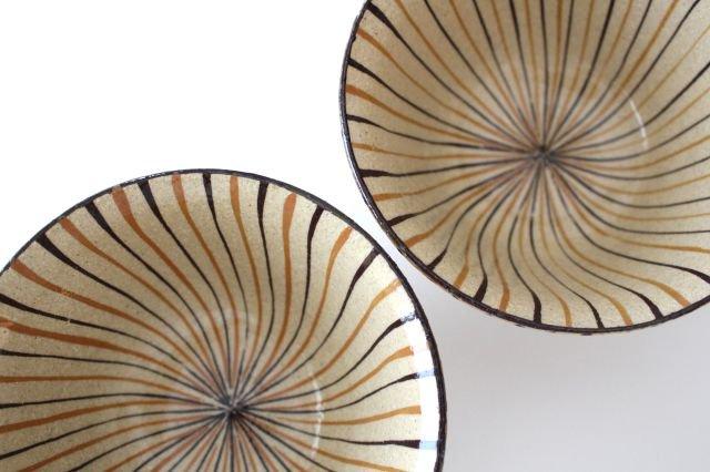 美濃焼 二色十草 反中平碗 橙 陶器 画像5