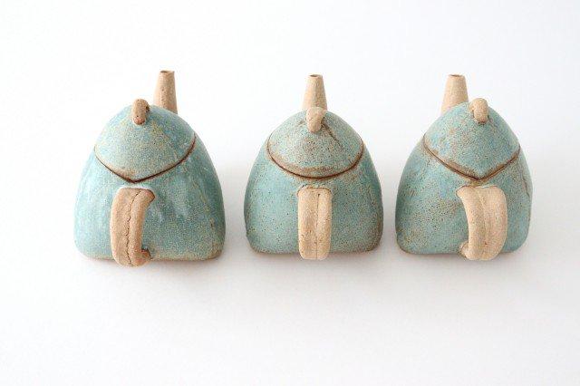 三角ポット 青 陶器 宮崎和佳子 画像3