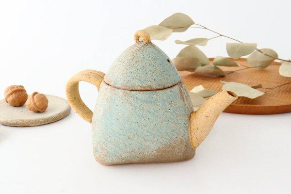 三角ポット 青 陶器 宮崎和佳子商品画像