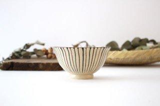 美濃焼 二色十草 反中平碗 青 陶器商品画像