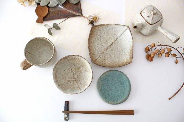 2枚はぎ四方皿 陶器 宮崎和佳子 画像4