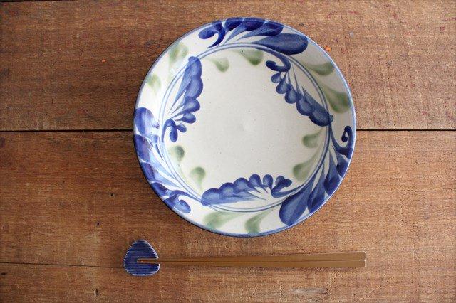 7寸皿 線引唐草 陶器 壷屋焼 陶眞窯 やちむん 画像2