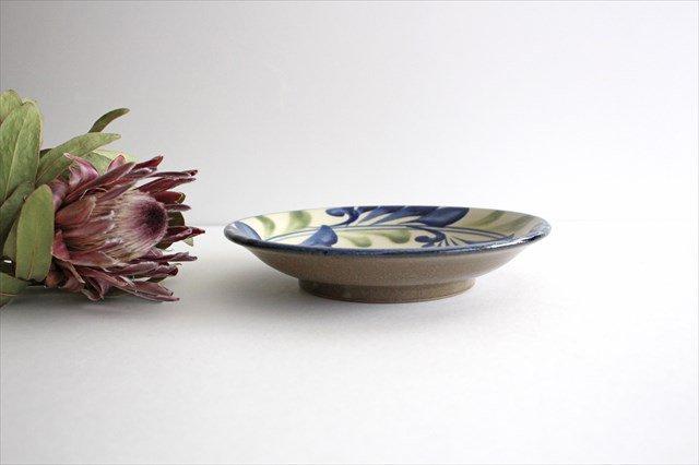 7寸皿 線引唐草 陶器 壷屋焼 陶眞窯 やちむん 画像3