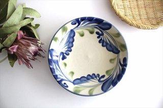 7寸皿 線引唐草 陶器 壷屋焼 陶眞窯 やちむん商品画像