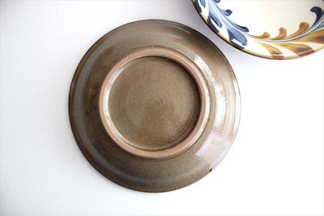 7寸皿 連デイゴ唐草 陶器 壷屋焼 陶眞窯 やちむん 画像3