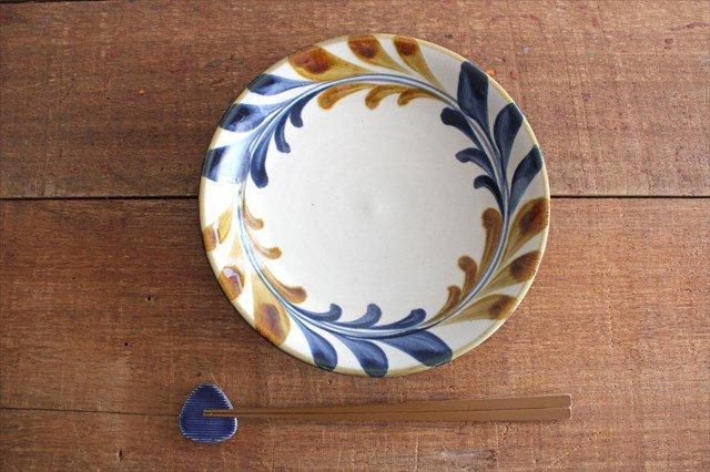 7寸皿 連デイゴ唐草 陶器 壷屋焼 陶眞窯 やちむん 画像4