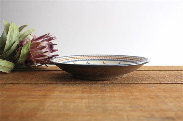 7寸皿 赤絵ブーゲンビリア 陶器 壷屋焼 陶眞窯 やちむん 画像3