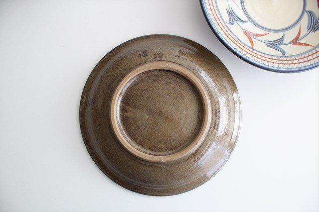 7寸皿 赤絵ブーゲンビリア 陶器 壷屋焼 陶眞窯 やちむん 画像4