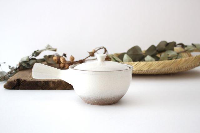 萬古焼 冠 急須 粉引き 陶器 画像4