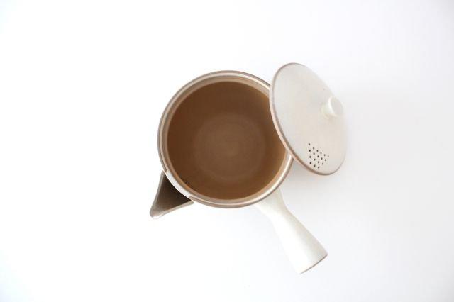 萬古焼 冠 急須 粉引き 陶器 画像5